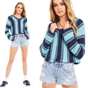 NWT Wildfox Chromatic Stroke Hermosa Sweater